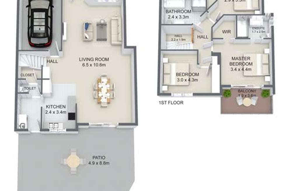 Floorplan of Homely townhouse listing, 24/11 Glin Avenue, Newmarket QLD 4051