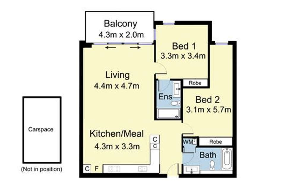 Floorplan of Homely apartment listing, 115/201 Whitehorse Road, Balwyn VIC 3103