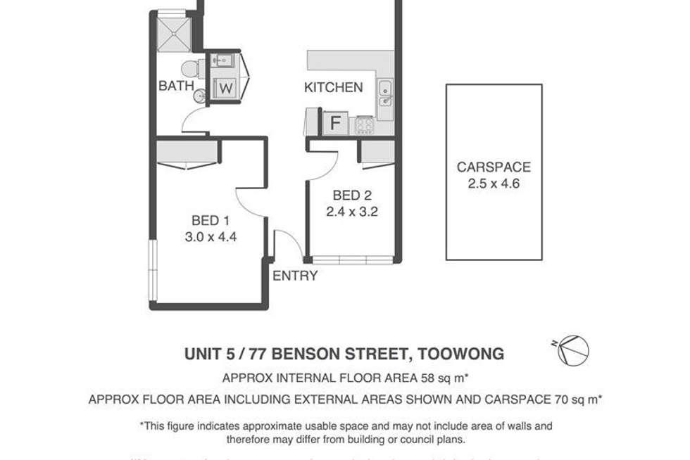 Floorplan of Homely unit listing, 5/77 Benson Street, Toowong QLD 4066