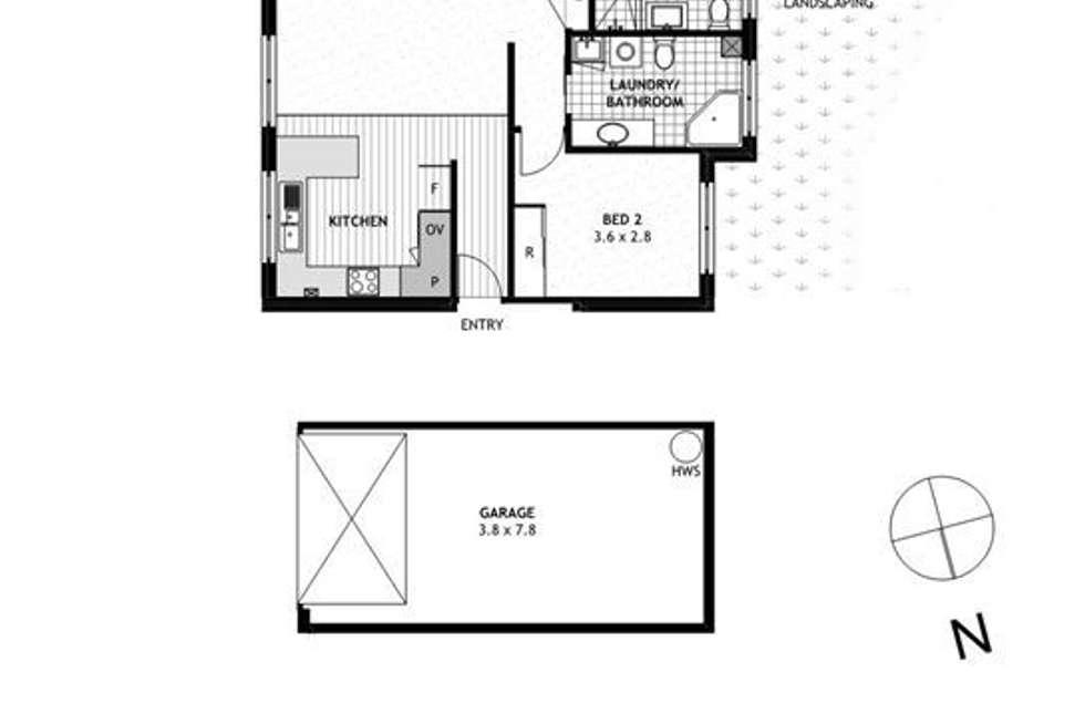 Floorplan of Homely unit listing, 2/32 Frederick Street, Taringa QLD 4068