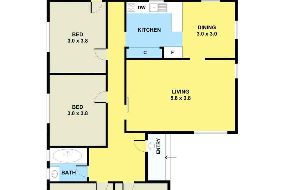 Floorplan of Homely house listing, 26 Okeefe Street, Bellfield VIC 3081