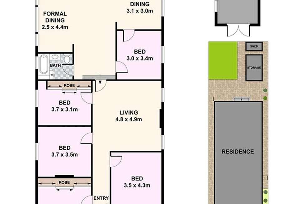 Floorplan of Homely house listing, 10 Hardy Street, Ashfield NSW 2131