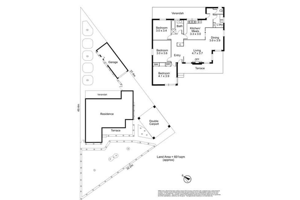 Floorplan of Homely house listing, 48 Robbins Street, Ivanhoe VIC 3079