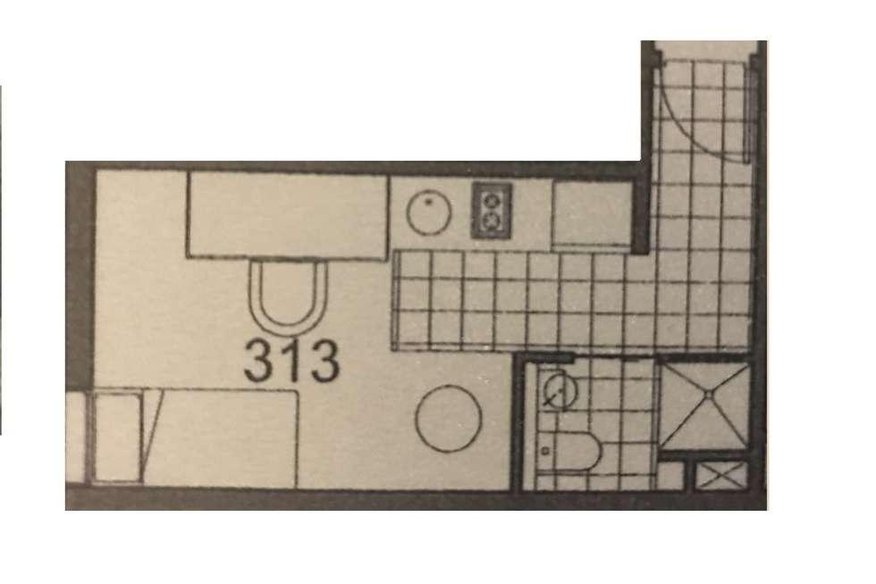 Floorplan of Homely house listing, 313/9 Earl Street, Carlton VIC 3053