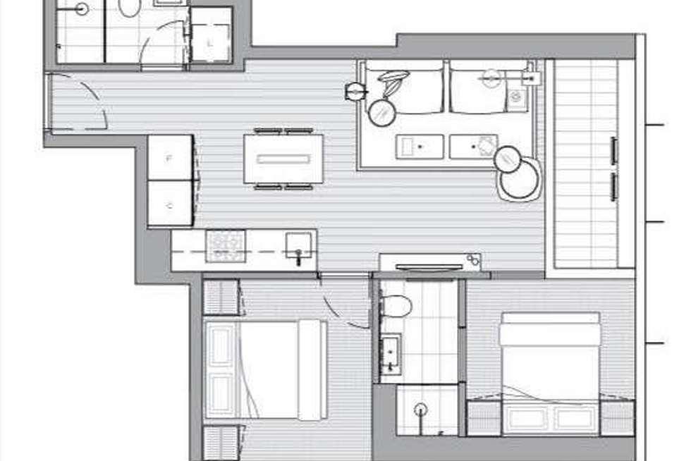 Floorplan of Homely apartment listing, 462 Elizabeth Street, Melbourne VIC 3004