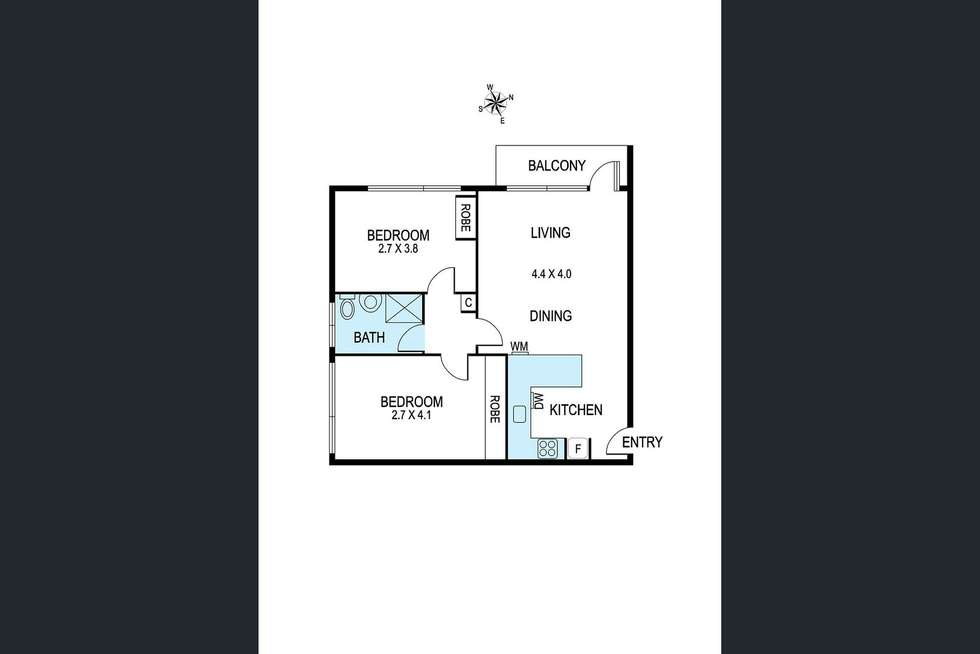 Floorplan of Homely unit listing, 2/36 Cromwell Road, South Yarra VIC 3141
