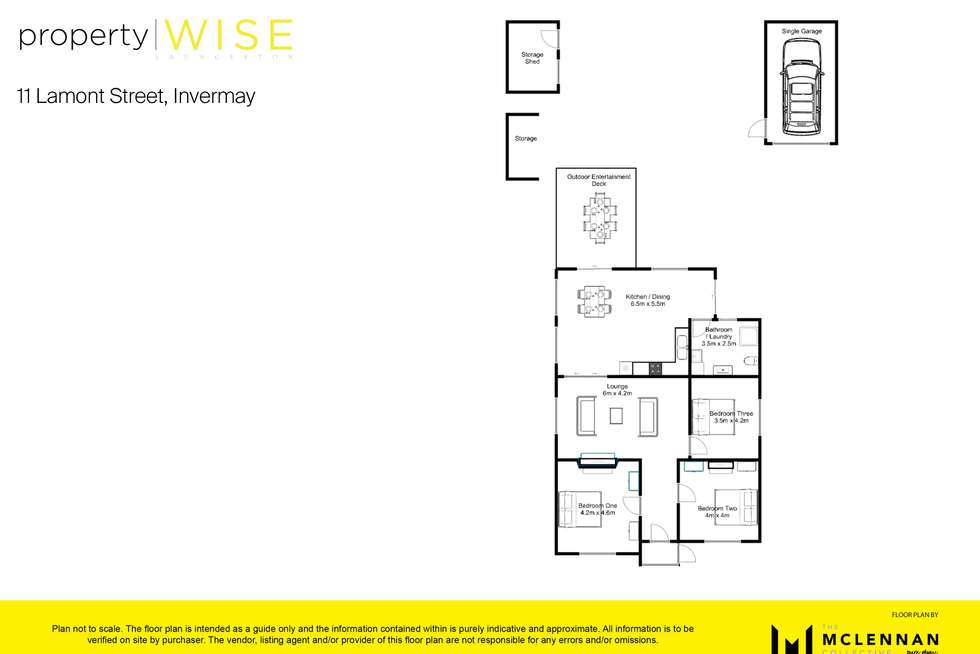 Floorplan of Homely house listing, 11 Lamont Street, Invermay TAS 7248