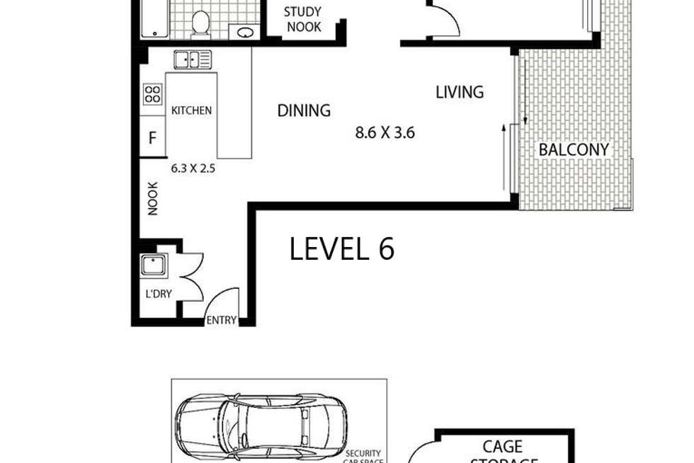 Floorplan of Homely apartment listing, 89/24 Lachlan Street, Liverpool NSW 2170