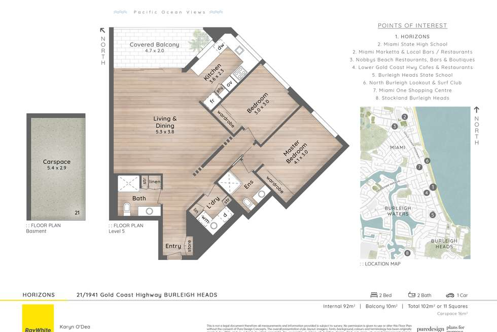 Floorplan of Homely unit listing, 21/1941 Gold Coast Highway, Burleigh Heads QLD 4220