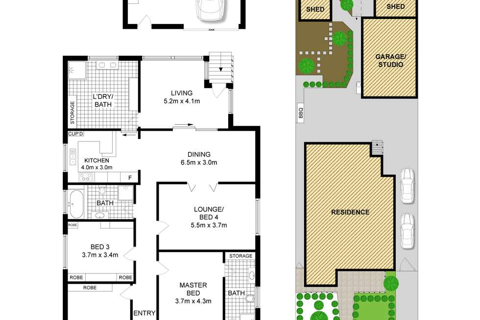 Floorplan of Homely house listing, 40 Wareemba Street, Wareemba NSW 2046
