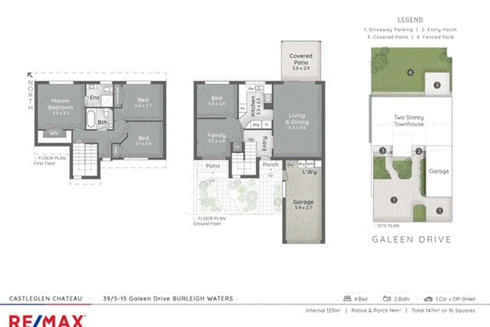 Floorplan of Homely townhouse listing, 39/5-15 Galeen Dve, Burleigh Waters QLD 4220