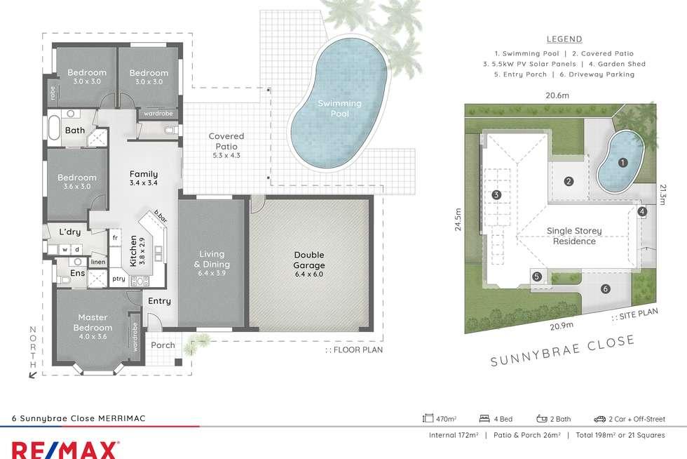 Floorplan of Homely house listing, 6 Sunnybrae Cl, Merrimac QLD 4226
