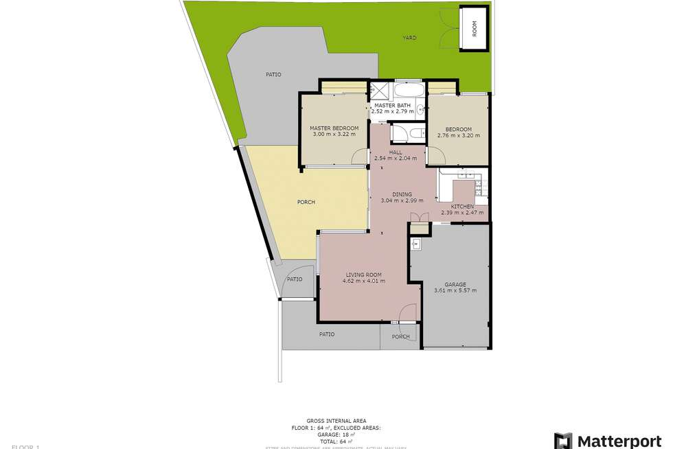 Floorplan of Homely semiDetached listing, 2/20 Cabot Court, Merrimac QLD 4226