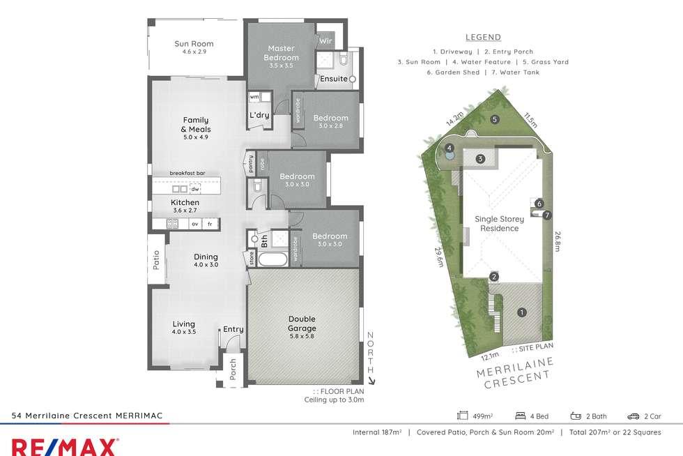 Floorplan of Homely house listing, 54 Merrilaine Crescent, Merrimac QLD 4226