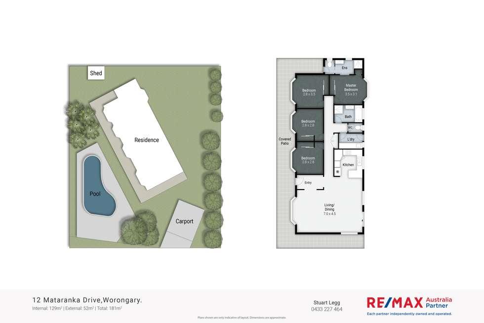 Floorplan of Homely house listing, 12 Mataranka Drive, Worongary QLD 4213