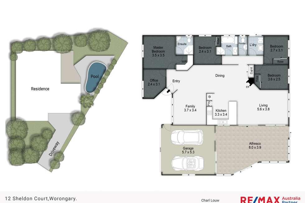 Floorplan of Homely house listing, 12 Sheldon Court, Worongary QLD 4213