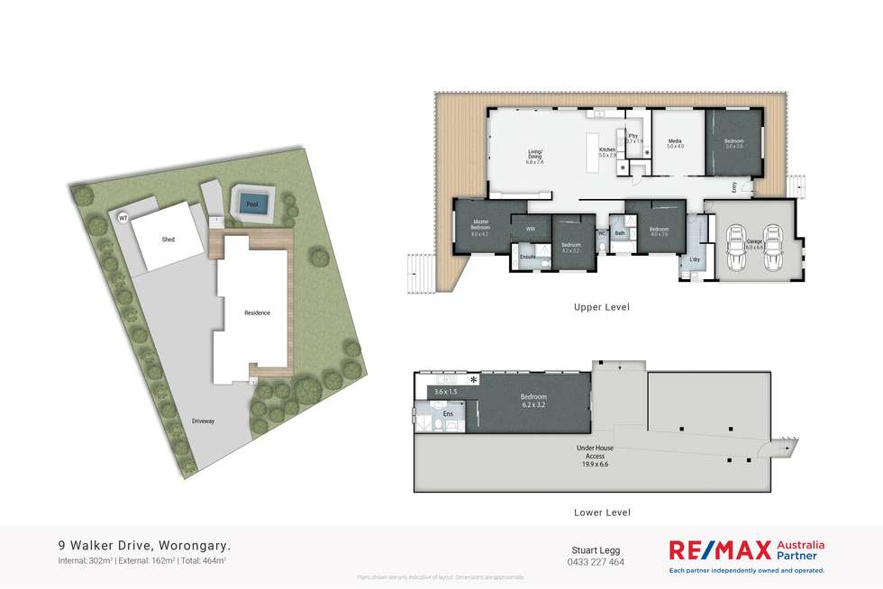 Floorplan of Homely house listing, 9 Walker Drive, Worongary QLD 4213