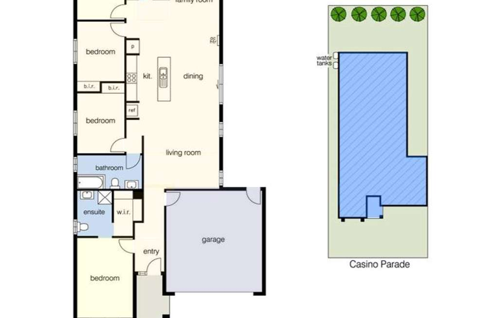 Floorplan of Homely house listing, 22 Casino Parade, Point Cook VIC 3030