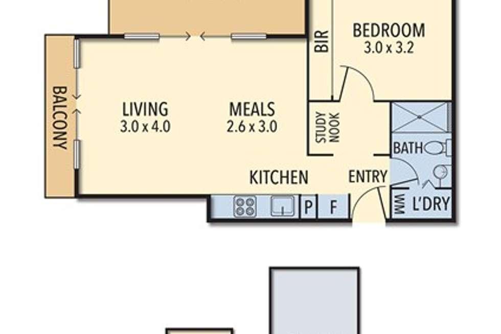 Floorplan of Homely unit listing, 516/2 McGoun Street, Richmond VIC 3121