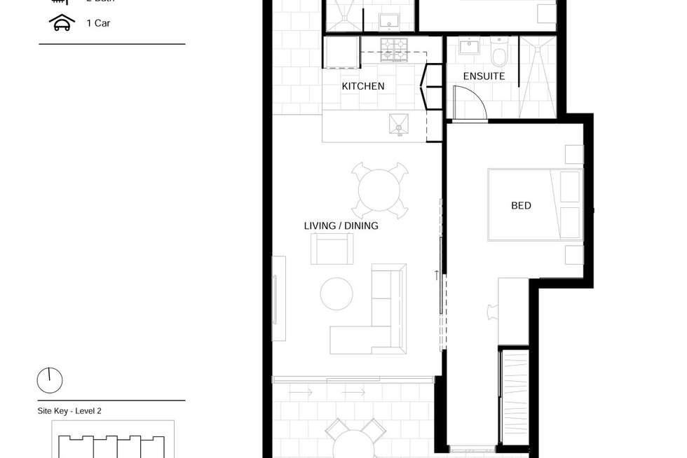 Floorplan of Homely apartment listing, 205/50 Garden Terrace, Newmarket QLD 4051