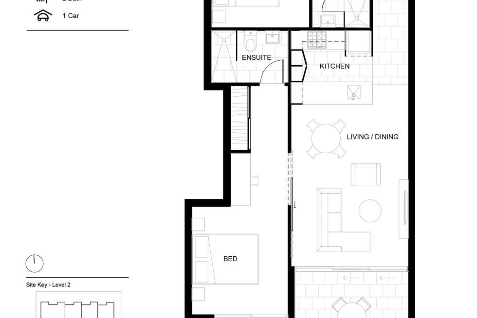 Floorplan of Homely apartment listing, 305/50 Garden Terrace, Newmarket QLD 4051