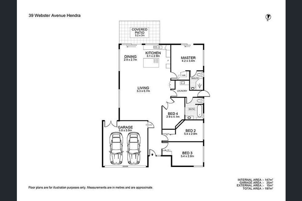 Floorplan of Homely house listing, 39 Webster Ave, Hendra QLD 4011