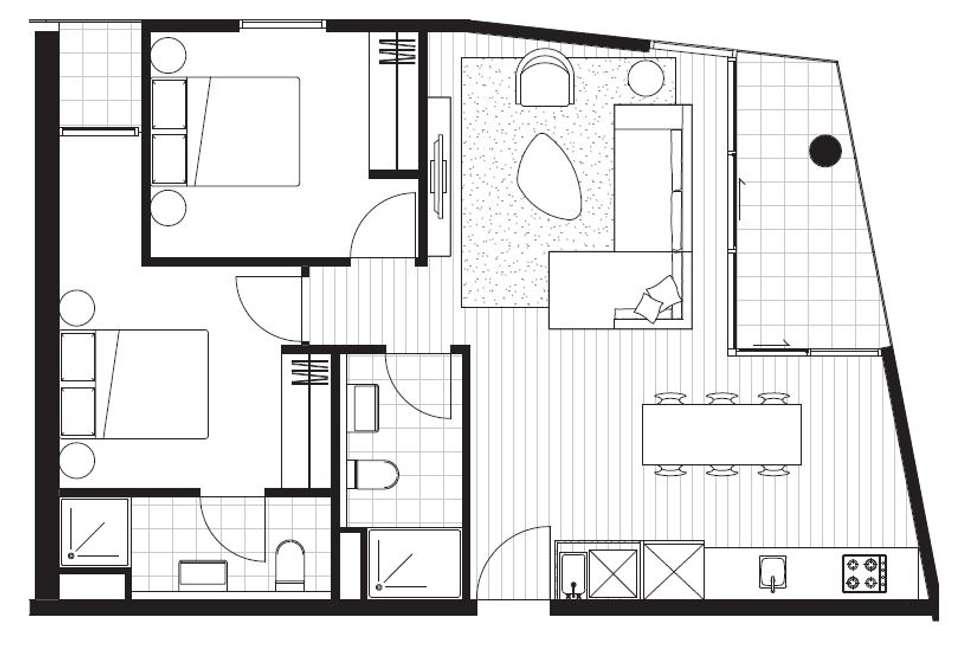 Floorplan of Homely apartment listing, 1305D/21 Robert Street, Collingwood VIC 3066