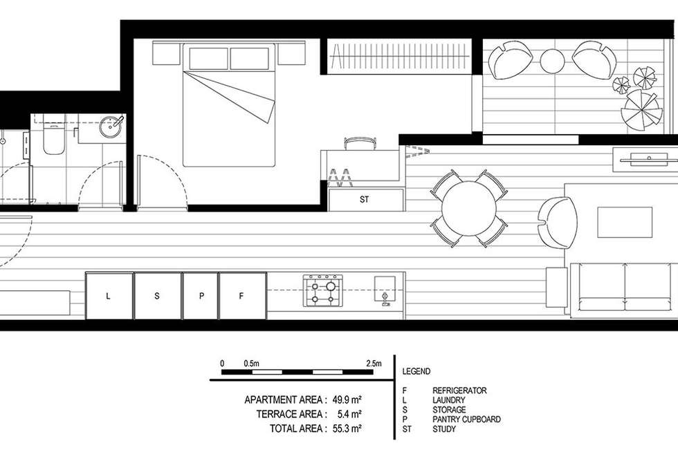 Floorplan of Homely apartment listing, 710/35 Wilson Street, South Yarra VIC 3141