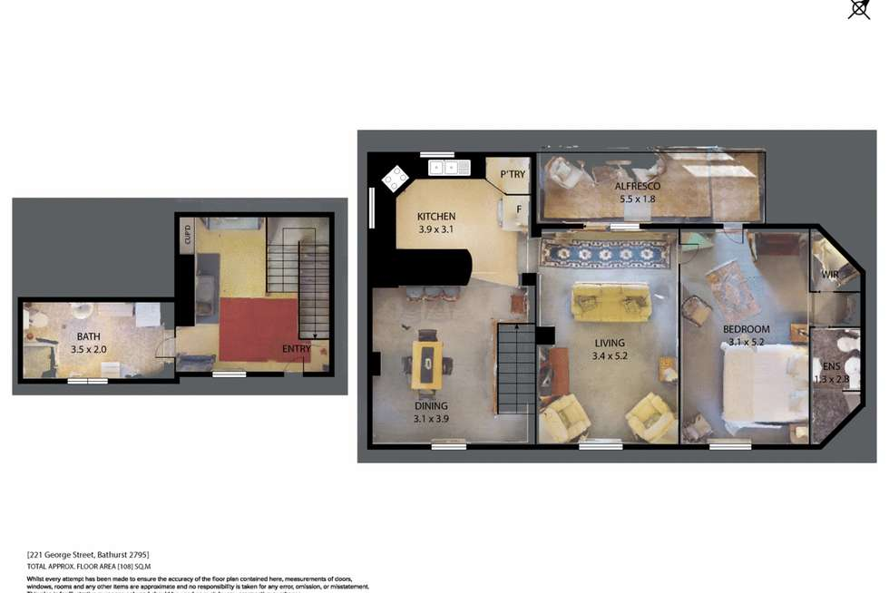Floorplan of Homely townhouse listing, 221A George Street, Bathurst NSW 2795