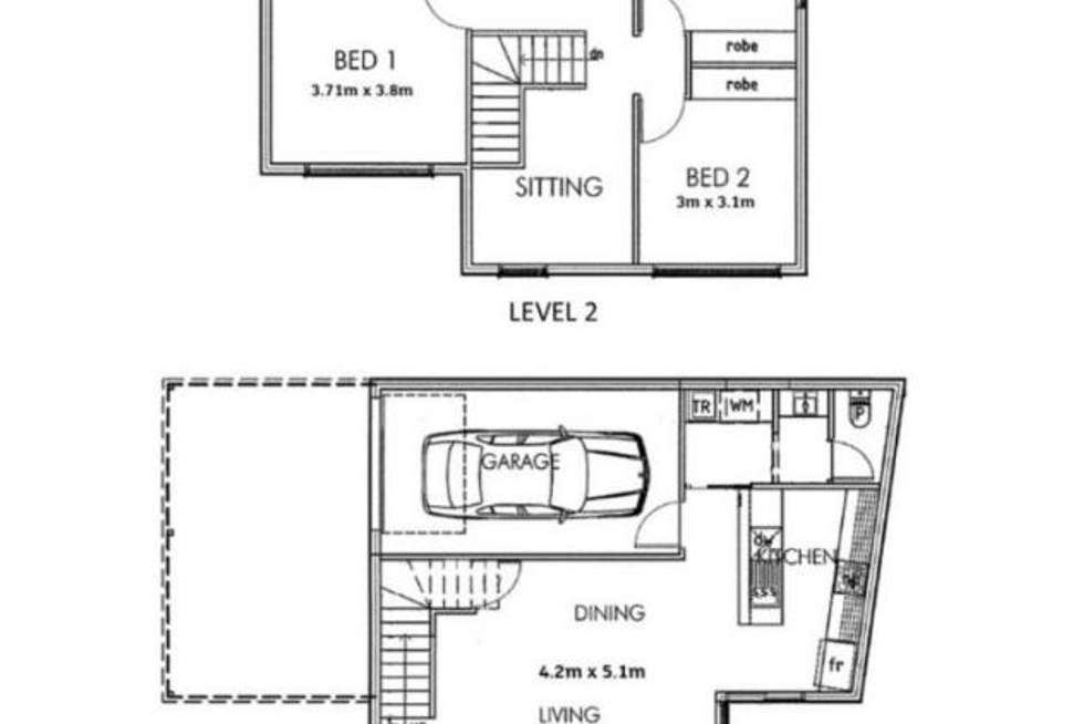 Floorplan of Homely townhouse listing, 1/2 Avenida Street, Campbelltown SA 5074