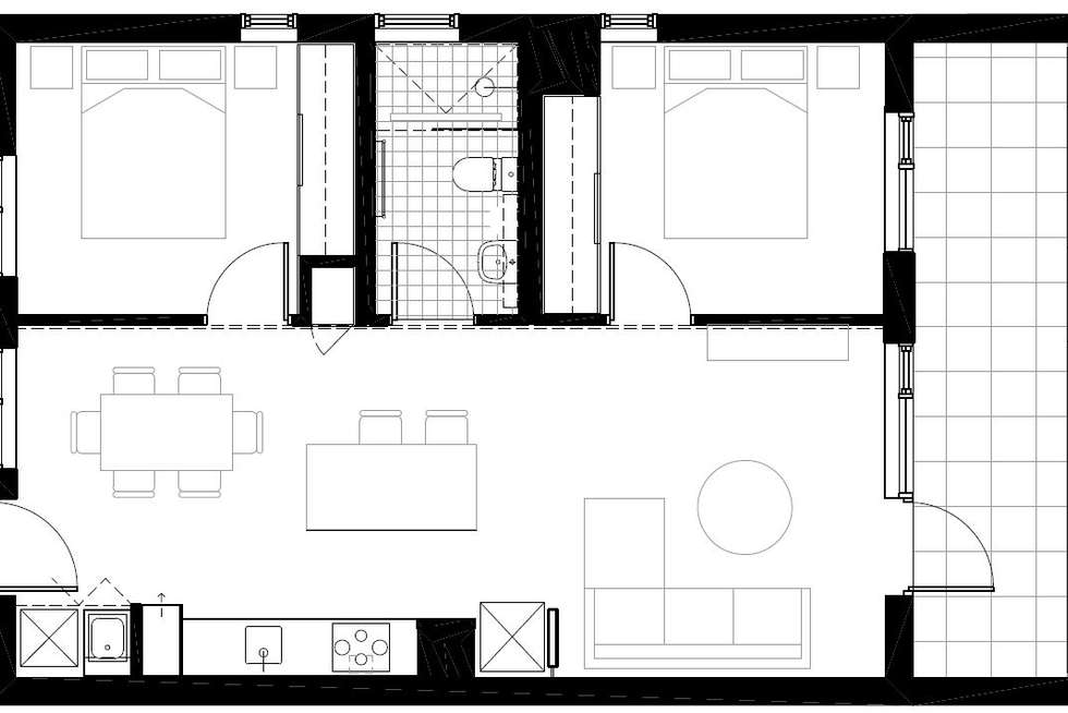 Floorplan of Homely apartment listing, 302/28 Curzon Street, West Melbourne VIC 3003