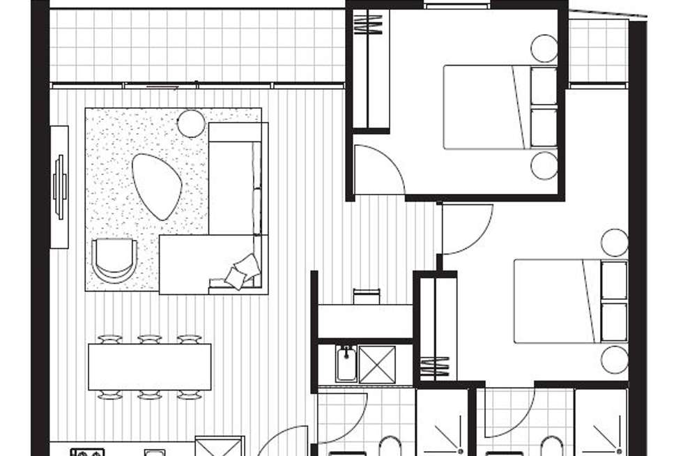 Floorplan of Homely apartment listing, 505D/21 Robert Street, Collingwood VIC 3066
