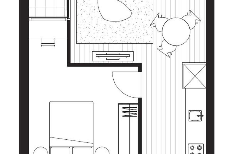Floorplan of Homely apartment listing, 704B/3 Brewery Lane, Collingwood VIC 3066