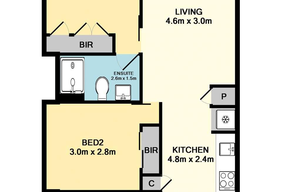 Floorplan of Homely apartment listing, 206/33 Rose Lane, Melbourne VIC 3000