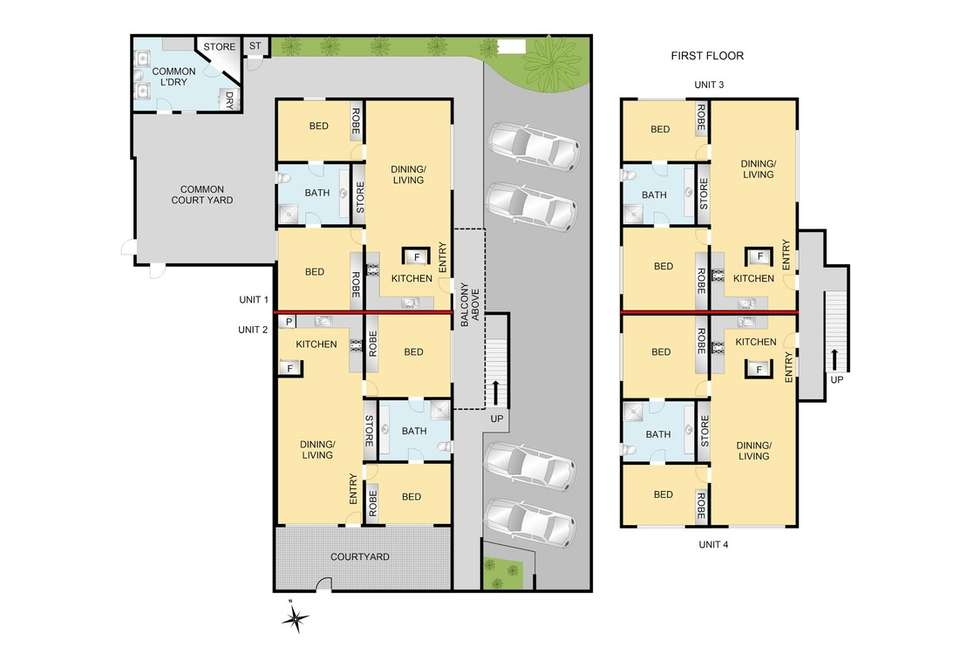 Floorplan of Homely unit listing, 4/63 Kilgour Street, Geelong VIC 3220