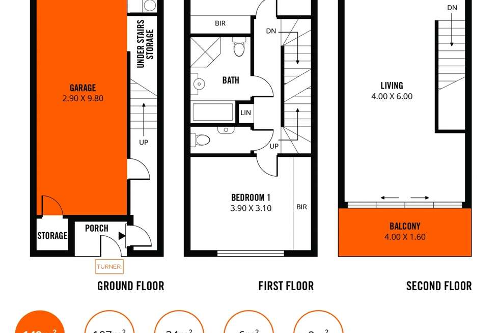 Floorplan of Homely townhouse listing, 36 Gilles Street, Adelaide SA 5000