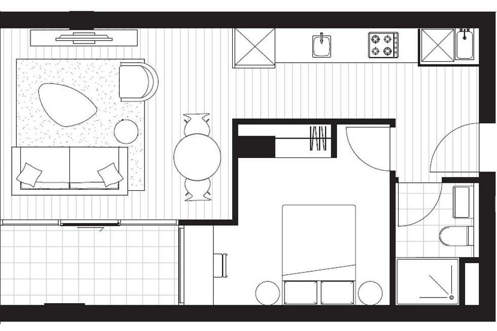 Floorplan of Homely apartment listing, 1602D/21 Robert Street, Collingwood VIC 3066