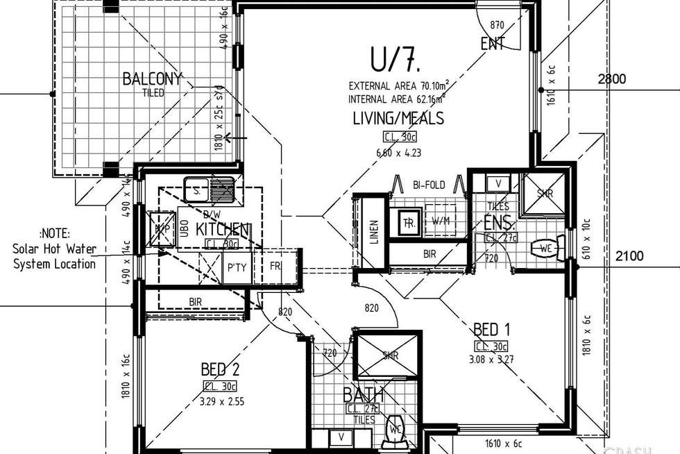 Floorplan of Homely unit listing, 3/124 First Avenue, Bassendean WA 6054