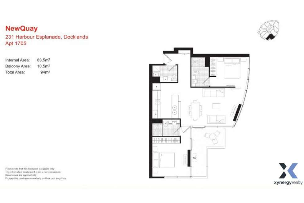 Floorplan of Homely apartment listing, 1705/231 Harbour Esplanade, Docklands VIC 3008