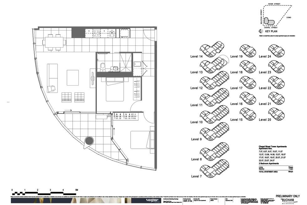 Floorplan of Homely apartment listing, 707/35 Malcolm Street, South Yarra VIC 3141