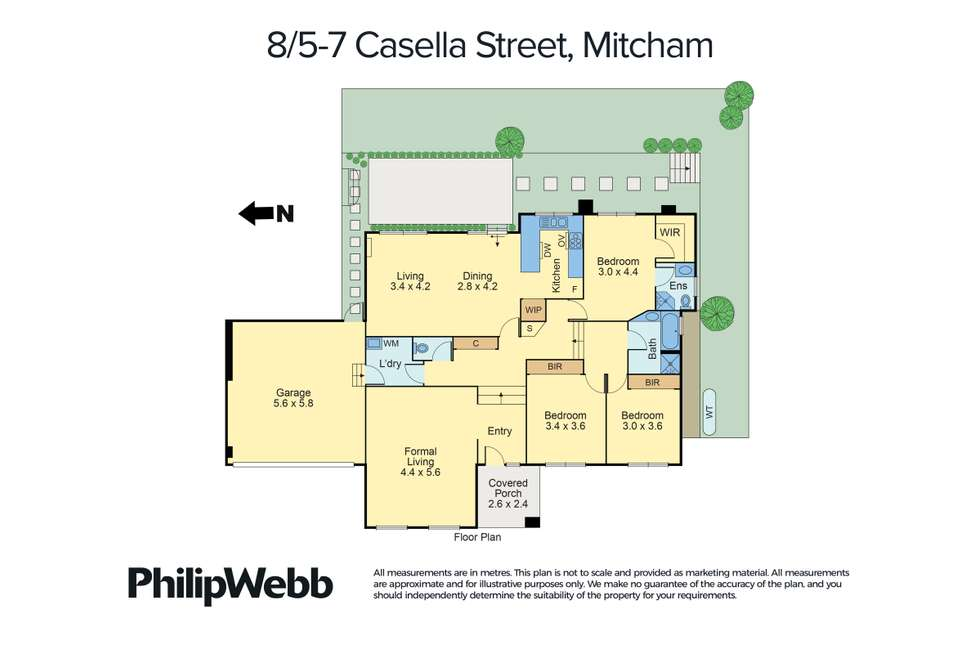 Floorplan of Homely townhouse listing, 8/5-7 Casella Street, Mitcham VIC 3132