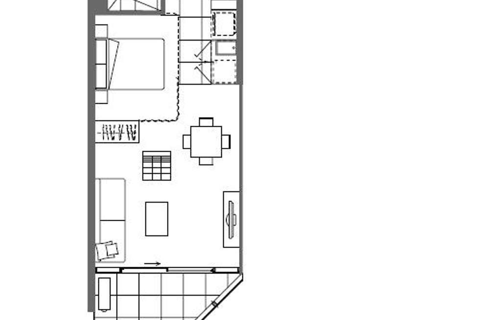 Floorplan of Homely apartment listing, 815/35 Malcolm Street, South Yarra VIC 3141