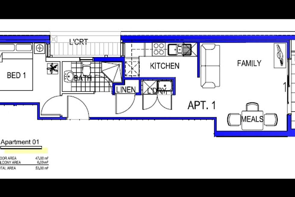 Floorplan of Homely apartment listing, 1/463 South Road, Bentleigh VIC 3204