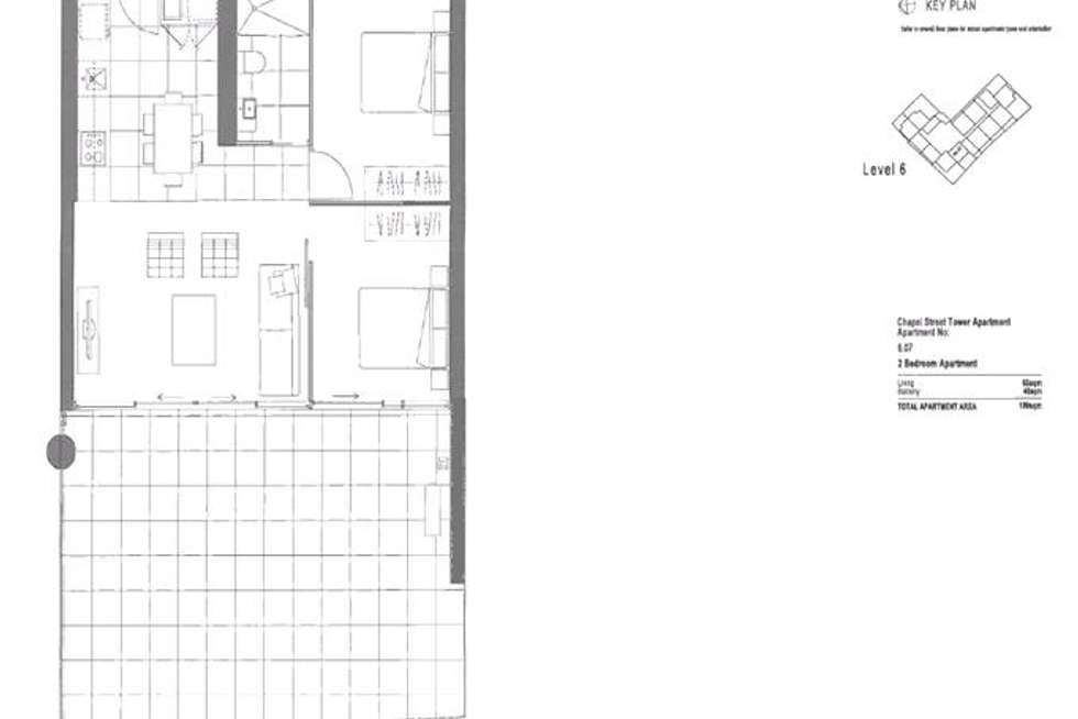 Floorplan of Homely apartment listing, 607/35 Malcolm Street, South Yarra VIC 3141