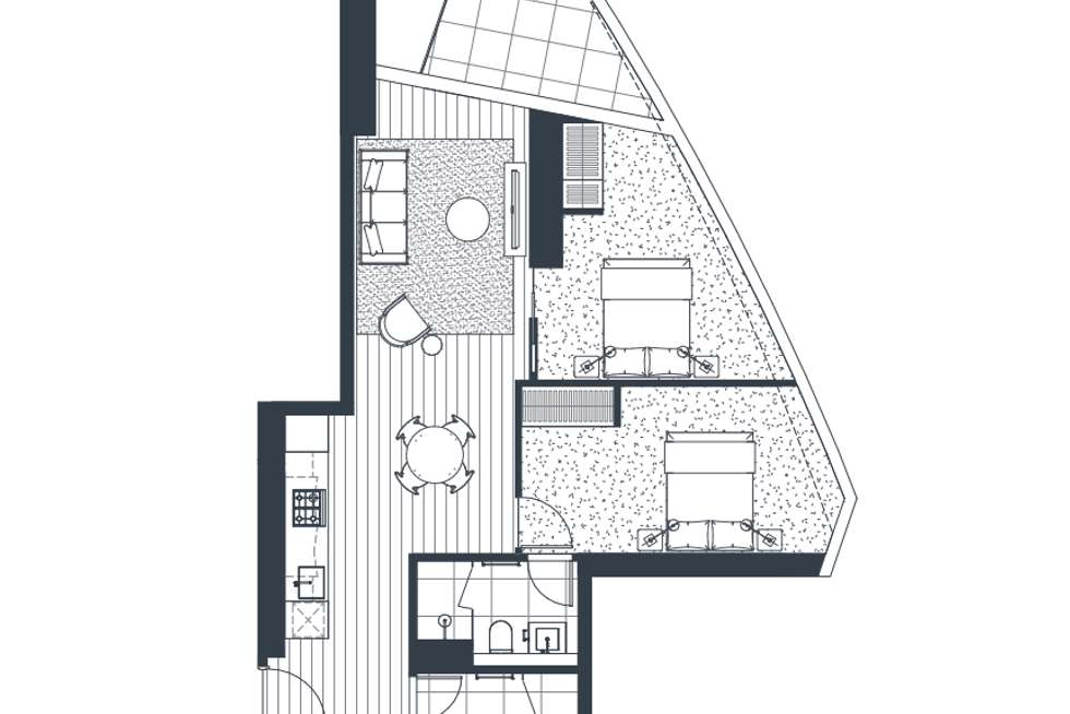 Floorplan of Homely apartment listing, 2201/18 Hoff boulevard, Southbank VIC 3006