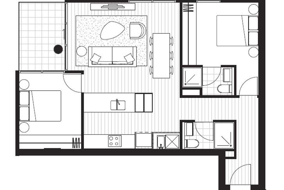 Floorplan of Homely apartment listing, 703D/21 Robert Street, Collingwood VIC 3066