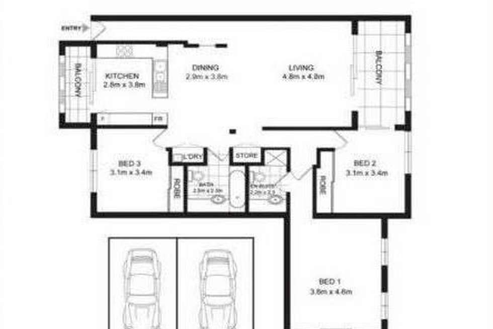 Floorplan of Homely apartment listing, 3 The Piazza, Wentworth Point NSW 2127