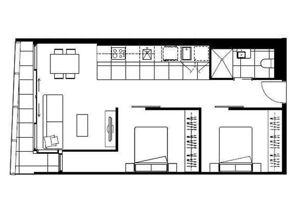 Floorplan of Homely apartment listing, 310/35 Malcolm Street, South Yarra VIC 3141