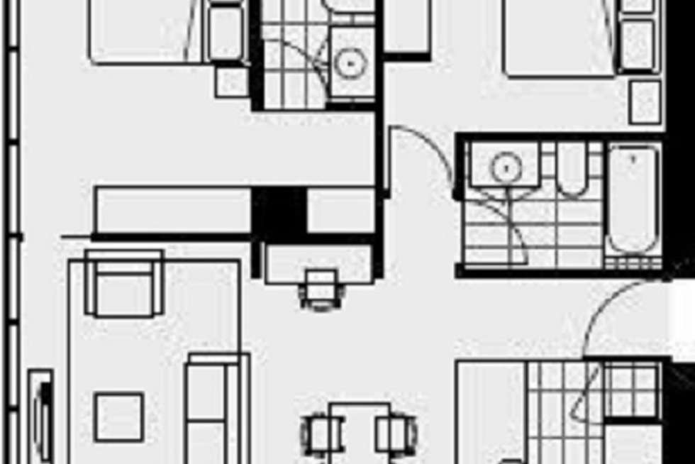 Floorplan of Homely apartment listing, 1805/133 City Road, Southbank VIC 3006