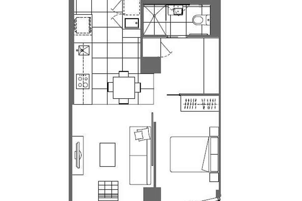 Floorplan of Homely apartment listing, 2208/35 Malcolm Street, South Yarra VIC 3141